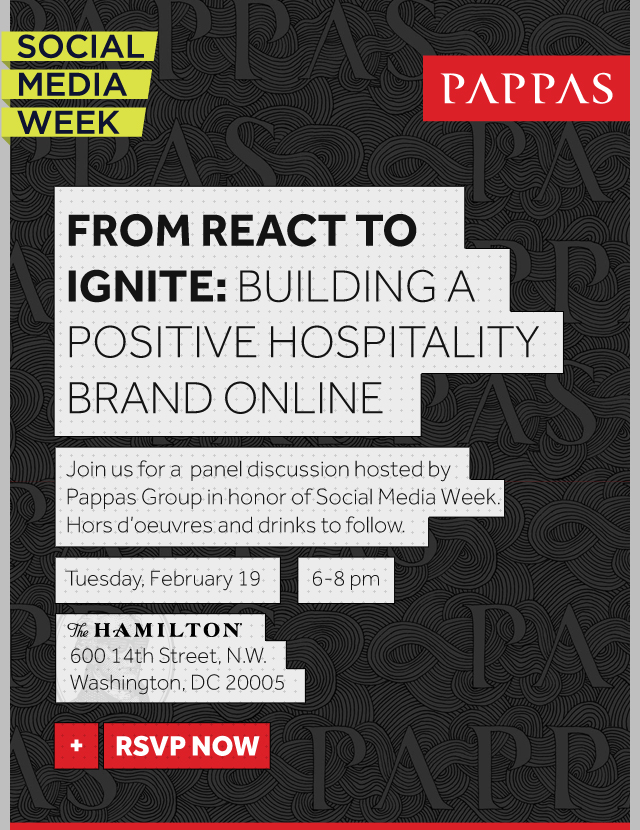 Pappas Group Social Media Week Event Invite
